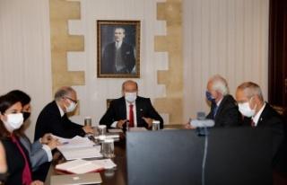 Cumhurbaşkanı Ersin Tatar Mario Nava ile video konferans...