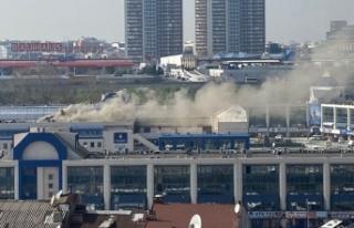 İstanbul Otogar da yangın paniği