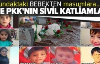 İşte PKK'nın sivil katliamları! Kundaktaki...