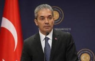 Türkiye Dışişleri Bakanlığı Sözcüsü Aksoy'dan,...