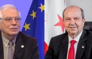 Cumhurbaşkanı Ersin Tatar, Josep Borrell'i...