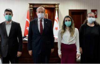 Ersin Tatar, Türk Kızılay Kuzey Kıbrıs Delegasyon...