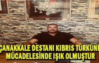 Pazarcılar Birliği Başkanı Garabli'den 'Çanakkale'...