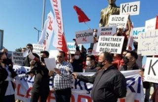 Başbakanlık önüne 'Açlık Çadırı' kuruldu