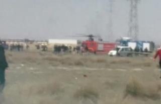 Konya'da gösteri uçağı düştü