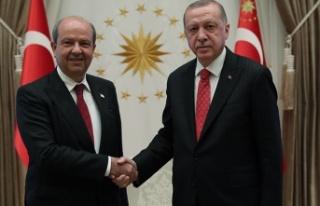 Ersin Tatar, Recep Tayyip Erdoğan ile bir araya geldi