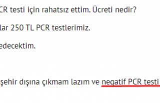 300 TL'ye Negatif PCR testi cepte!
