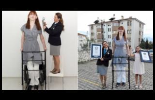 Rumeysa Gelgi, 'Dünyanın en uzun boylu kadını'...