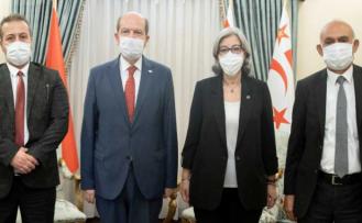 Ersin Tatar, Yüksek Mahkeme Başkanı Şefik, Başsavcı Altıncık ve Yargıç Türker ile görüştü