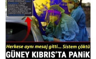 Güney Kıbrıs'ta cep telefonlarına gönderilen Kovid-19 mesajı paniğe neden oldu