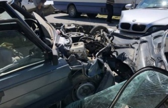 Mallıdağ yolunda korkutan kaza