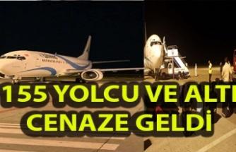 İngiltere'den gelen uçak Ercan'a indi (Video)