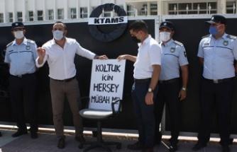 KTAMS geçici işçi istihdamlarını Başbakanlık önünde protesto etti