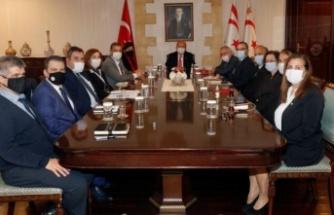 Cumhurbaşkanı Ersin tatar, teknik komite eş başkanlarıyla toplantı yaptı