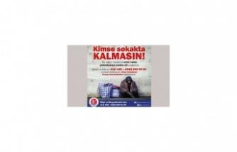 Girne Belediyesi Sokakta  Kalanlara Yardım Eli Uzattı