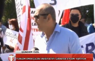 CANLI - Turizm Emekçileri İnisiyatifi Girne'de eylem yapıyor