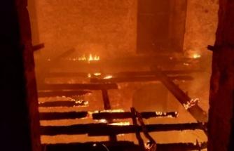 İçişleri Bakanı Kutlu Evren, St. Hilarion Kalesindeki Yangın Söndürme Çalışmalarını Yakından Takip Etti.