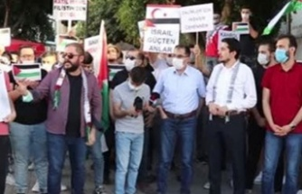 İsrail'in saldırıları KKTC'de protesto edildi
