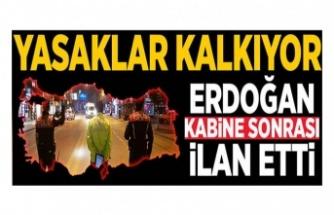 Kabine Toplantısı sona erdi! TC Cumhurbaşkanı Recep Tayyip Erdoğan Kabine Toplantısı kararlarını açıkladı