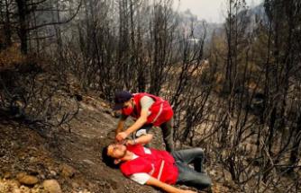 Hem yangınla hem de asılsız ihbarlar ile mücadele ediyorlar!