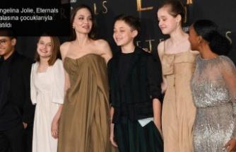 Angelina Jolie, Eternals galasına çocuklarıyla katıldı