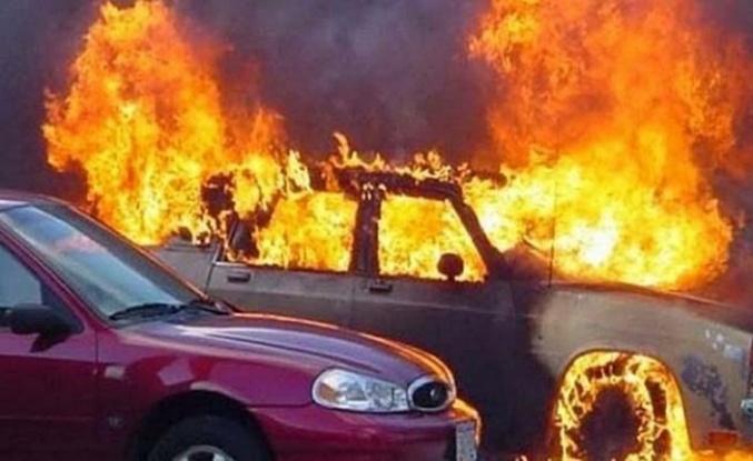 Görünmez kazada 6 araç yandı
