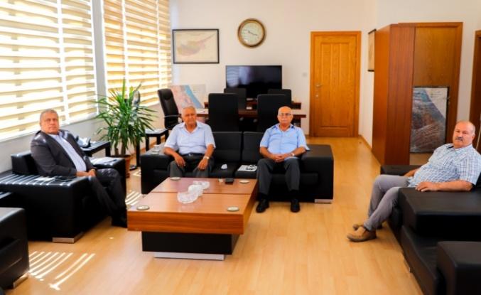 TMT MÜCAHİTLER DERNEĞİ GAZİMAĞUSA ŞUBESİ  BELEDİYE BAŞKANI İSMAİL ARTER'İ ZİYARET ETTİ