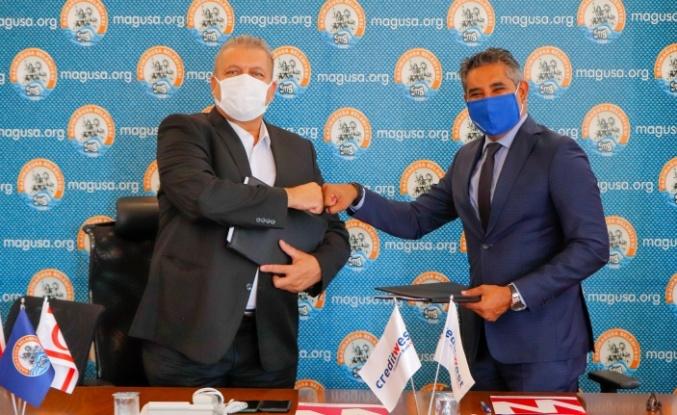 Gazimağusa Belediyesi ile Credit West Bankası arasında online tahsilat protokolü imzalandı