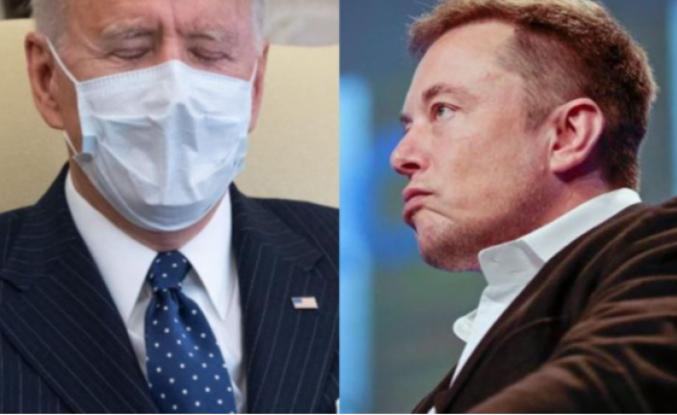 Elon Musk'tan Joe Biden'a gönderme: ' O hâlâ uyuyor'