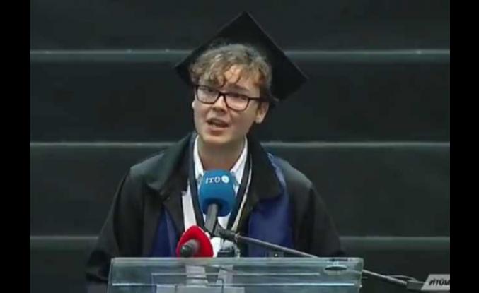 İTÜ birincisi Umutcan'ın gündeme damga vuran mezuniyet konuşması...