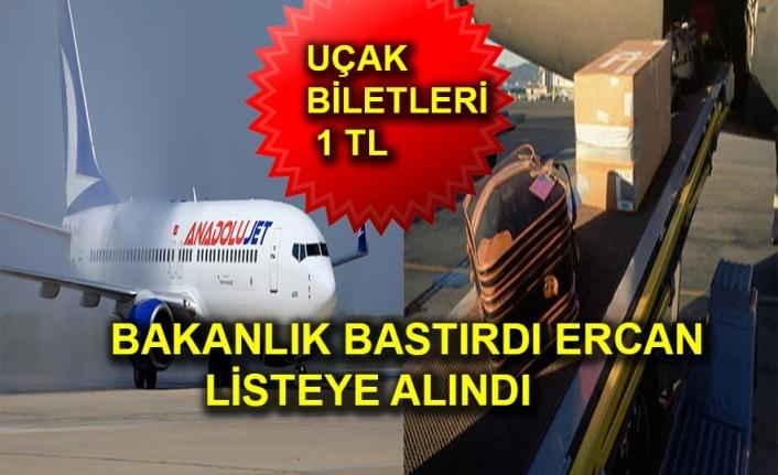 Tüm Türkiye Uçuşları 1 TL + KDV