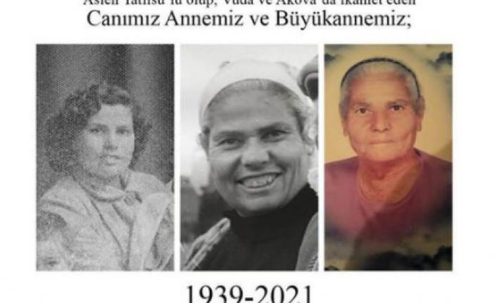 Erçakıca 82 yaşında hayata gözlerini yumdu