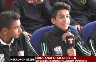 Şampiyon Okullar Girne Anafartalar Okulu Mikrofon Sizde 1. bölüm